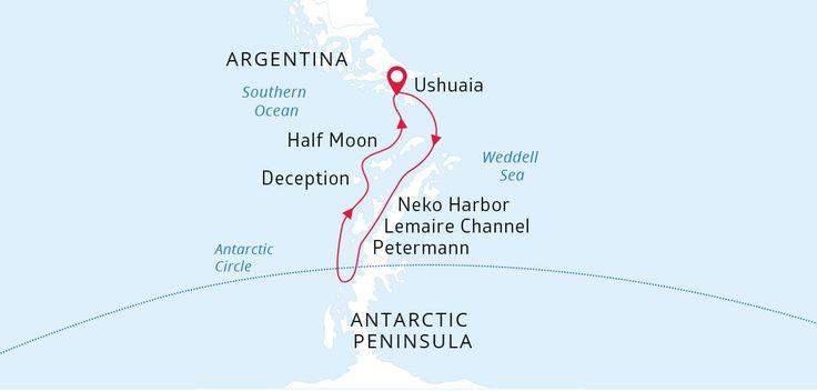 """L'itinéraire """"Wildest Antarctica"""" par Poséidon - croisière en Antarctique"""