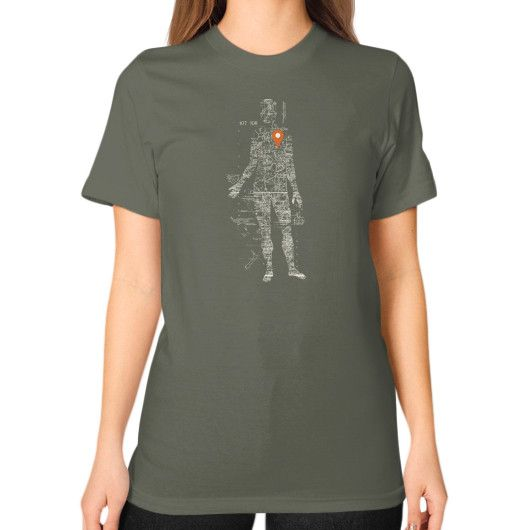 Travel With Me Unisex T-Shirt (on woman)