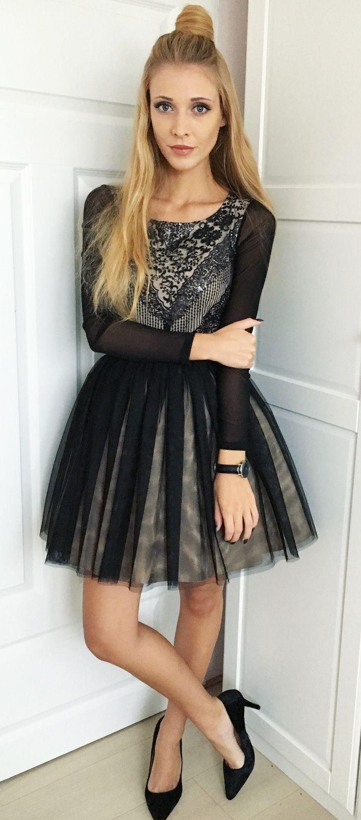 Tiulowa rozkloszowana sukienka Gabrielle. Idealna na studniówkę MADE IN POLAND <3 349 zł