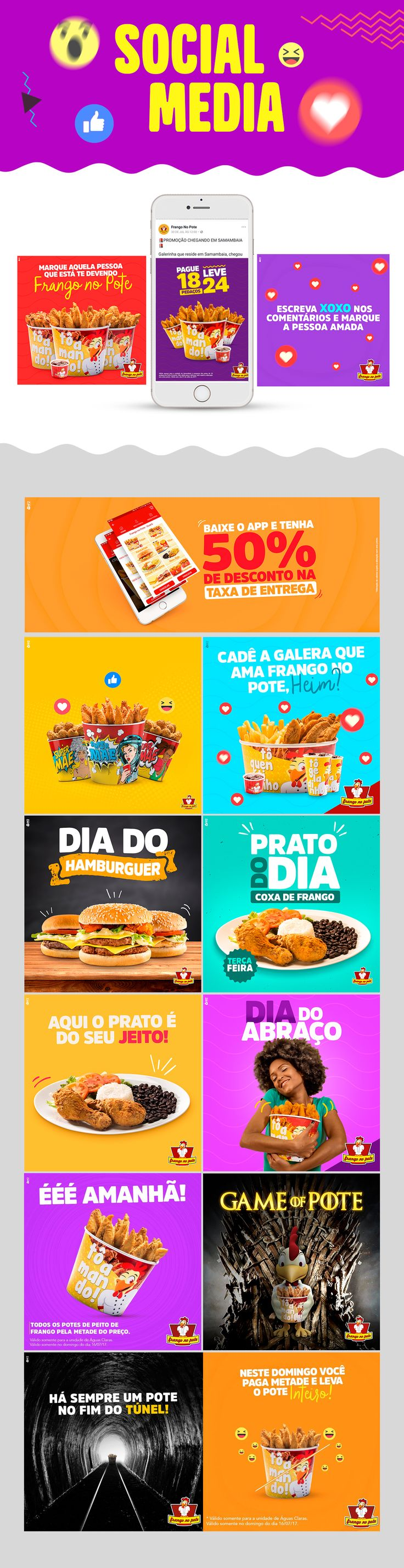 """Check out this @Behance project: """"Social Media - Frango no Pote"""" https://www.behance.net/gallery/55316407/Social-Media-Frango-no-Pote"""
