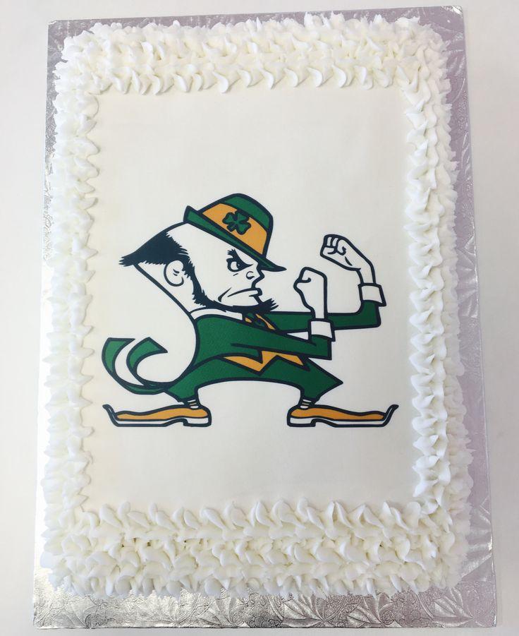 Notre Dame Fighting Irish Football Edible Cake #NotreDame #DvasCakes #Cambridge