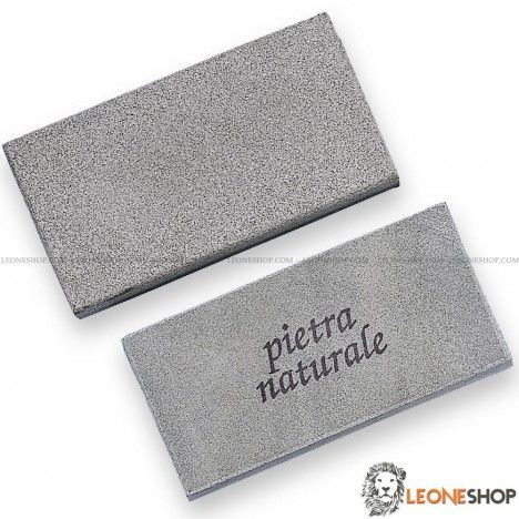 """Professional Knives Sharpening Stone DUE CIGNI Italy, sharpening stones with natural double grain that allows you always to be able to sharpen at best your Knife or any other cutting tool, In fact this natural coarse grain is used to start the sharpening and the fine for the finishing work of your blade - Dimensions 3.94"""" x 1.97"""" x 0.59"""" - For sale Online Knives Sharpening Stones DUE CIGNI Italy - LEONESHOP.COM - All the best sharpening stones and the best knives directly to your home"""