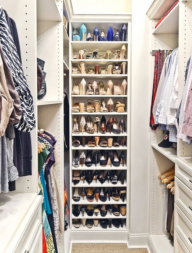 13 Creative Ways To Organize Your Shoes, Inspired By Pinterest   WhoWhatWear.com