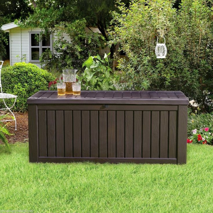 Jumbo 150 Gallon Deck Storage Box Large Outdoor Patio Garden Yard Pool  Bench NEW