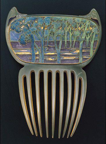 Lalique Art Nouveau hair ornament