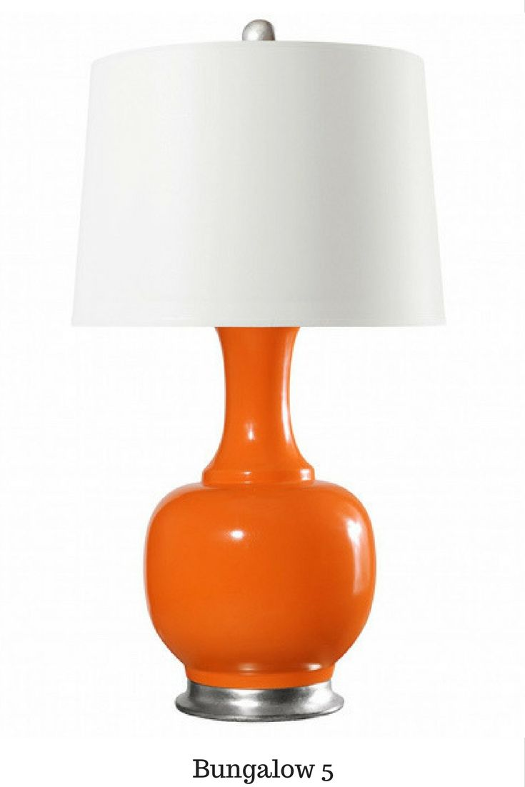 Add a playful orange table lamp for a twist!