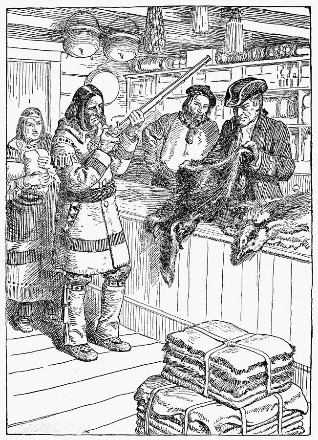 1785 Frontier Trading Post By Granger Coloring Pages Trading History