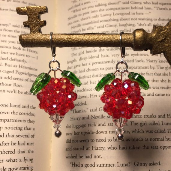 Dirigible Plum Earrings Red Iridescent Color  Luna