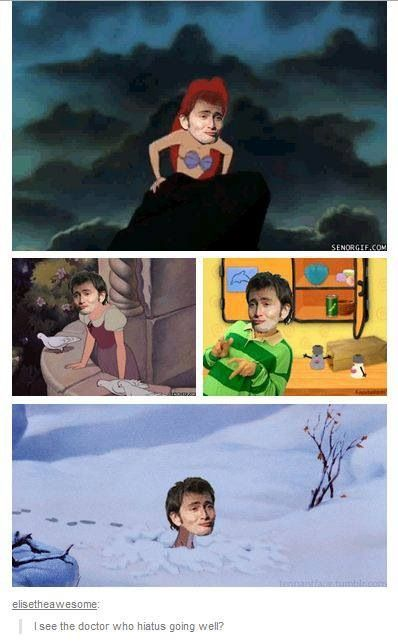 David Tennant in places he shouldn't be... The Doctor Who fandom is slowly turning into the Sherlock fandom...