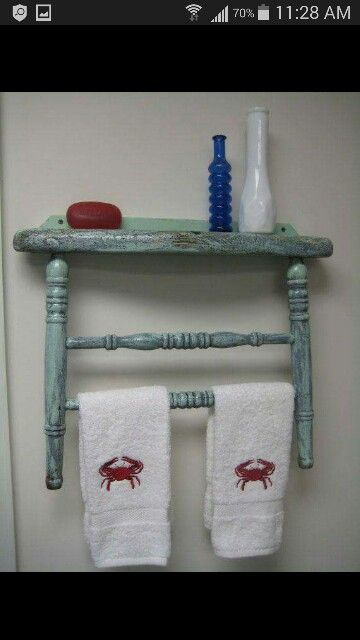 Old chairs create whimsy 2 kitchen bathroom laundry room.