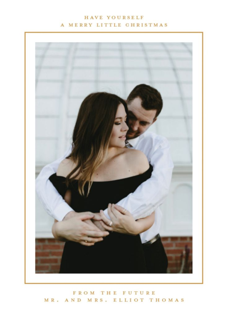 addressing wedding invitations married woman doctor%0A Newlywed holiday photo card