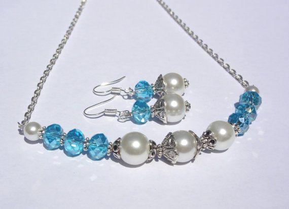 Jewelry Set Something Blue Bridesmaid by StunningGemsJewelry