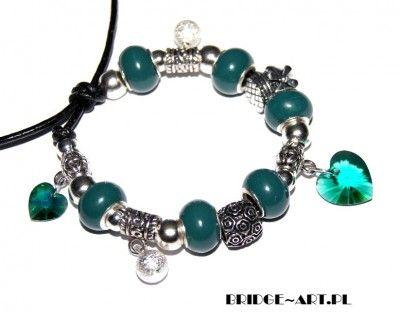 Bransoletka Modułowa Charms z Kryształami Swarovski #Swarovski #jewelry #bizuteria
