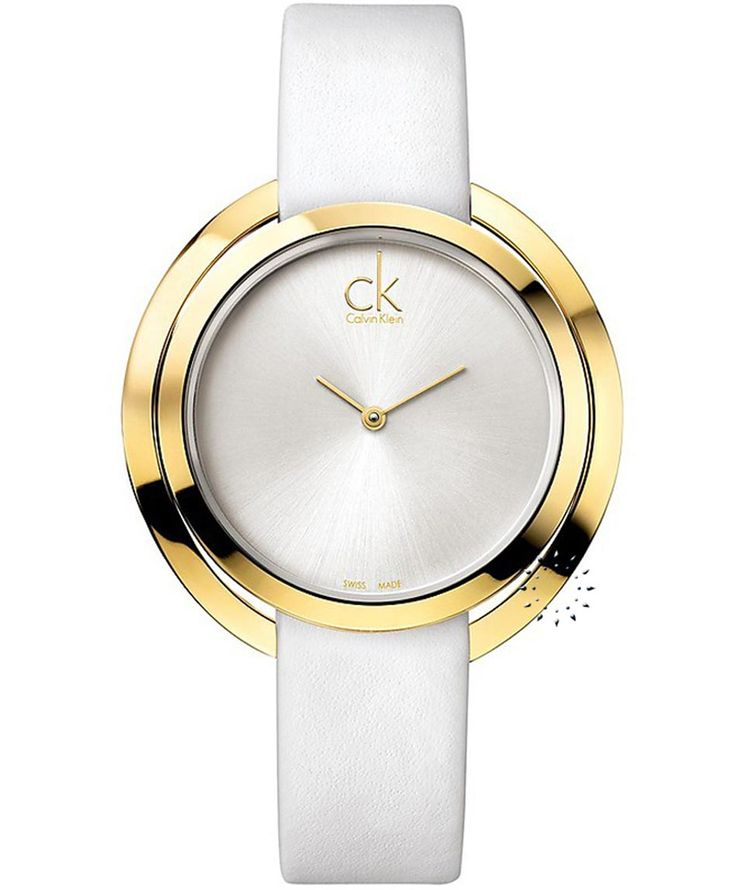 CALVIN KLEIN Aggregate White Leather Strap Τιμή: 293€ http://www.oroloi.gr/product_info.php?products_id=36124