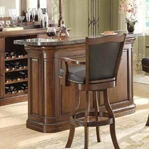 Preston Front Bar in Walnut Distressed | Nebraska Furniture Mart