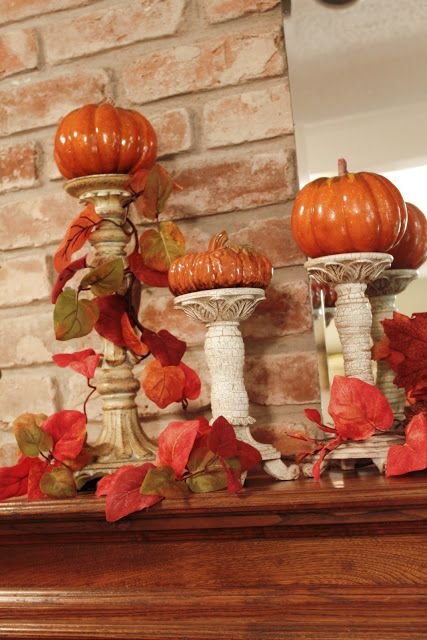 I need to find some small pumpkins to put atop my pillar candle holders.