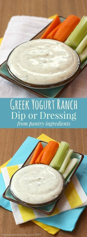 Greek Yogurt Ranch Dressing - a healthy version of this favorite made with basic ingredients from your pantry.