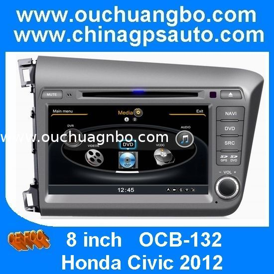 Ouchuangbo S100 Platform Car Radio for Honda Civic 2012 DVD Multimedia Navigation System from China