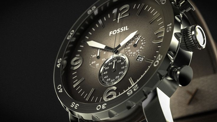 Fossil Nate JR1424: Modeled in NX, rendered in KeyShot.