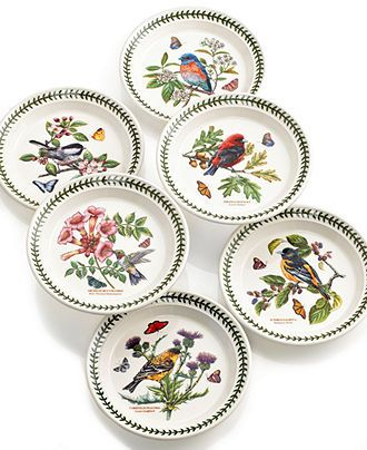 150 best portmeirion images on pinterest dish sets for Portmeirion dinnerware set of 4 botanic garden canape plates
