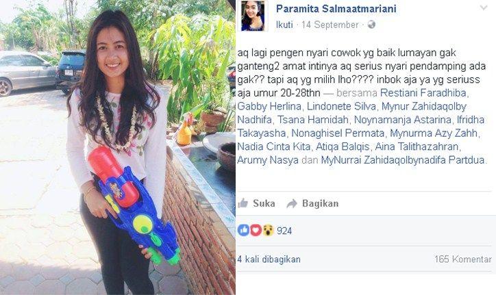 Heboh ! Postingan Seorang Gadis Cantik Di Facebook Bikin Netizen Ingin Berkata . . .