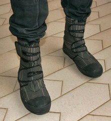 Steel Cap Boots styled after Japanese construction worker shoes