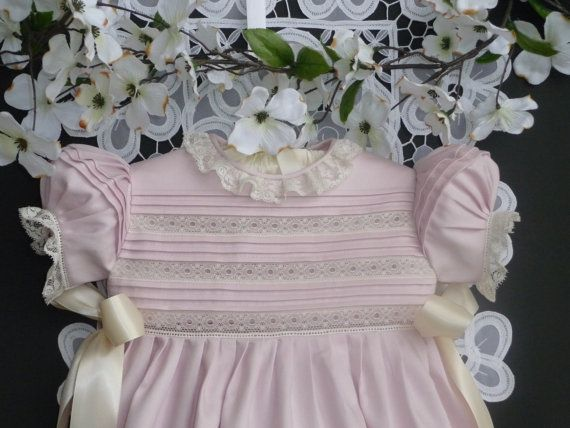 ReadyToShip Pink Baby Girl Heirloom Bubble by justforbabyonline, $145.00