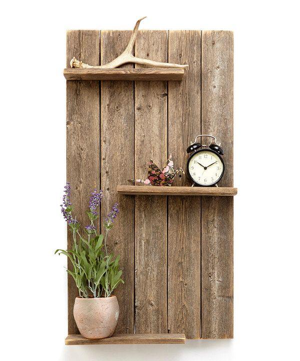 Image Result For Rustic Wood Shelves
