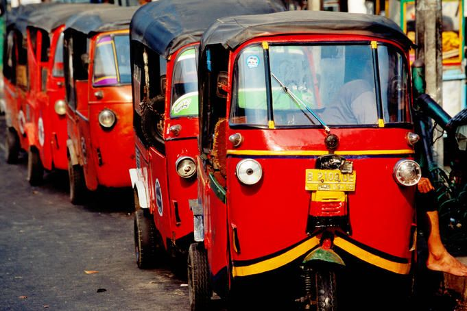 I used to live in Jakarta, Indonesia for three years (1990-1993). Bajaj transportation is very famous ride in Indonesia. It's like a mini-taxi but so much cheaper!