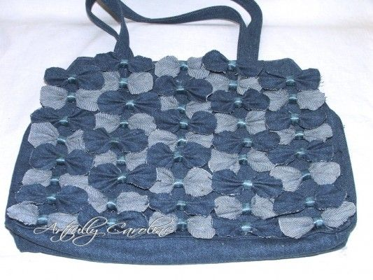 Anthro-Inspired Farfelle Bag: Farfale Bags, Recycle Jeans, Farfel Bags, Crafts Ideas, Crafts Bags, Denim Farfale, Inspiration Denim, Bows Pur, Anthro Inspiration