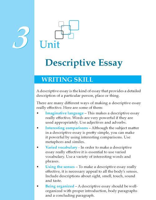 Descriptive essay tips