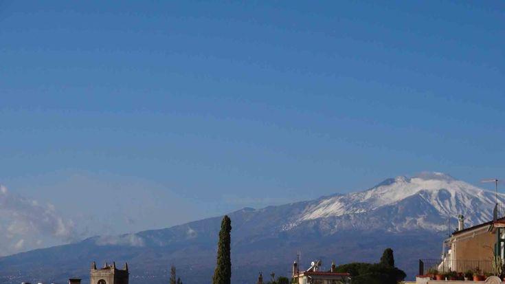 Vista do Vulcão Etna