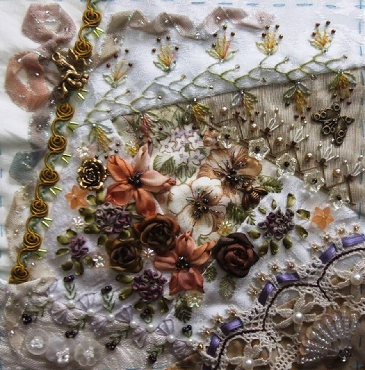 Best images about hand stitching crazy quilts on