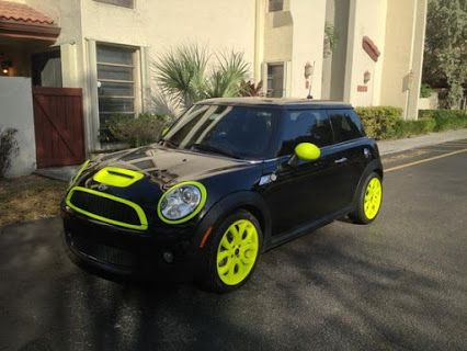 I love this Mini Cooper!!! Now if only if was blue instead if yellow  #cutecar…