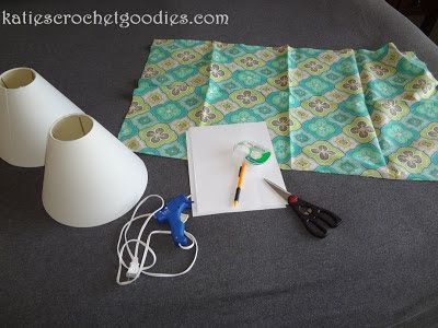 materials to recover lamp shades