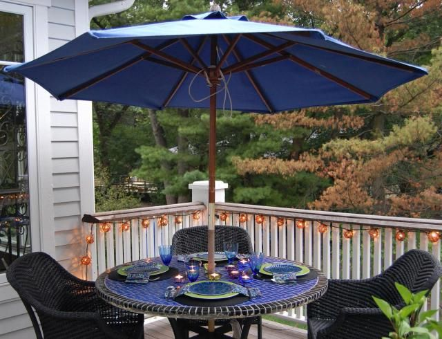40 Enchanting Outdoor Patio Decor Ideas With Patio Umbrellas Target 2