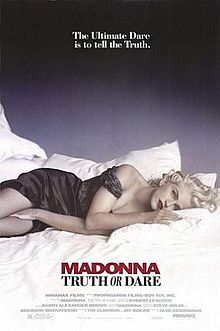 Madonna: Truth or Dare / DVD 5866 / http://catalog.wrlc.org/cgi-bin/Pwebrecon.cgi?BBID=7664838