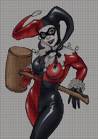 Harley Quinn Mallet Crochet Pattern