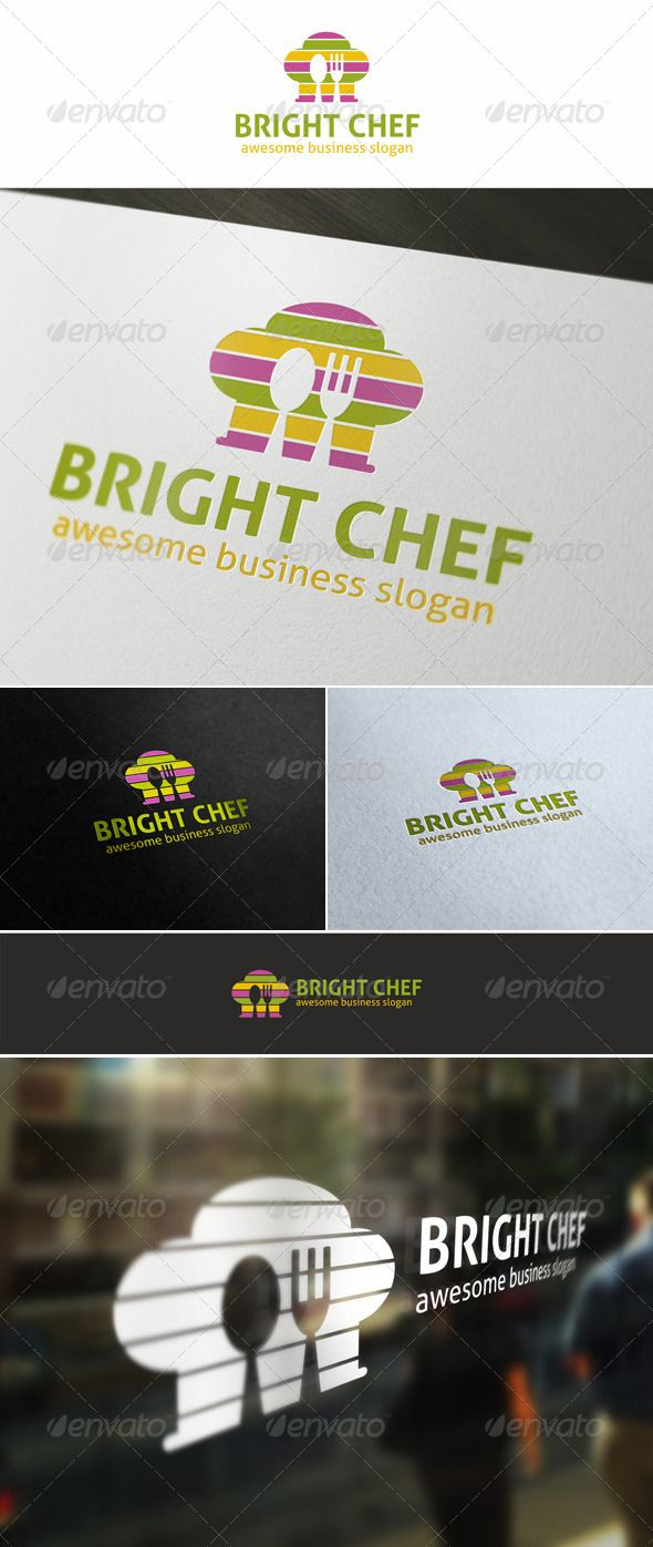 Bright Chef Cuisine Logo — Vector EPS #company #hat logo • Available here → https://graphicriver.net/item/bright-chef-cuisine-logo/5564210?ref=pxcr