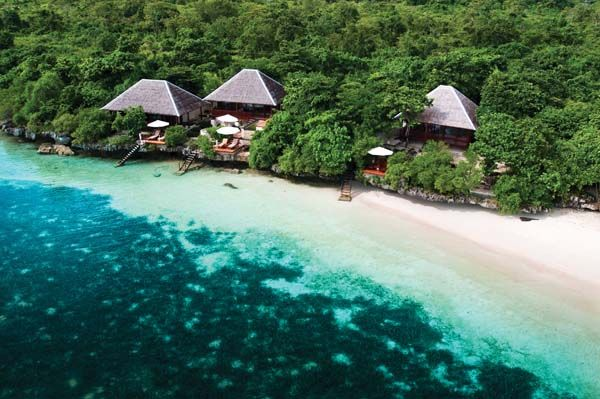 Perched on a small ledge above a beach, the Villas are Wakatobi Dive Resort's nicest accommodation.