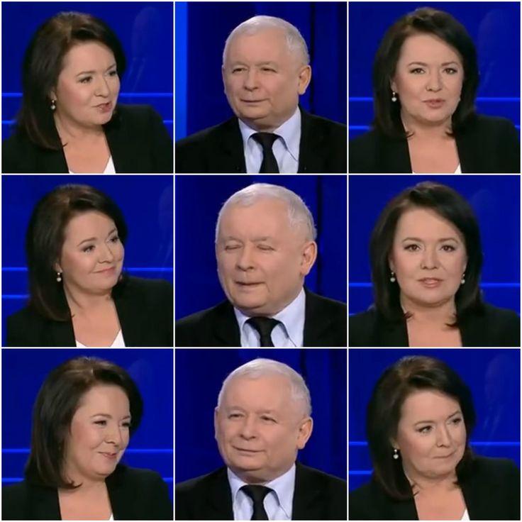 Wywiad Kaczyńskiego w TVP to prawdziwy hit. Zobacz, jak cieszyła się prowadząca - Wiadomości - WP.PL