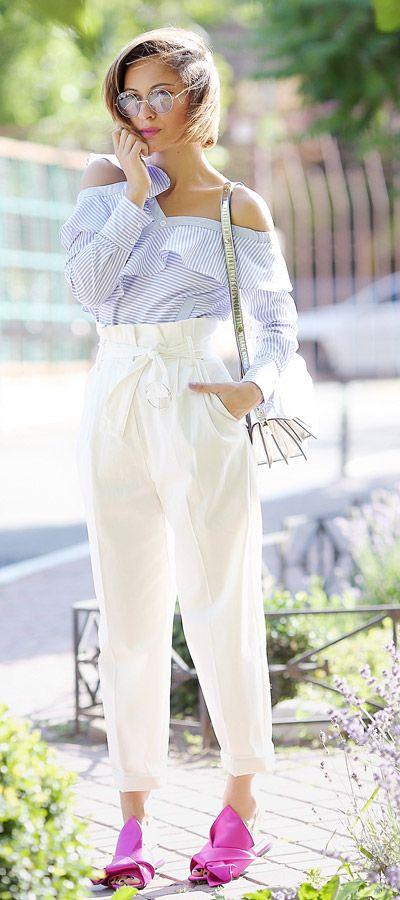 ruffle top summer outfits | summer street styles
