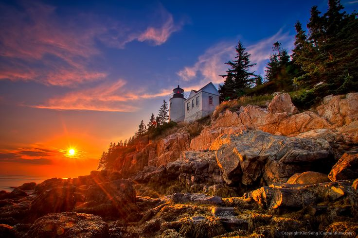 Maine is home to Acadia National Park. This lighthouse is on Mount Desert Island. #endorsed Photo by Kim Seng