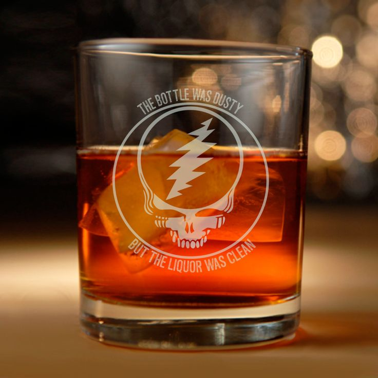 Grateful Dead inspired rocks glass - Brown Eyed Women