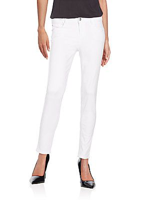 Kensie jeans Ankle Biter Skinny Jeans - White - Size