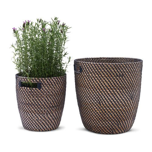 RÅGKORN Plant pot IKEA A plastic inner pot makes the plant pot waterproof. The handles make it easier to move the plant pots.
