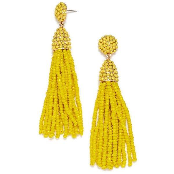 Women's Baublebar 'Pinata' Tassel Earrings ($36) ❤ liked on Polyvore featuring jewelry, earrings, yellow, tri color earrings, stud earrings, colorful stud earrings, multi colored stud earrings and beaded jewelry