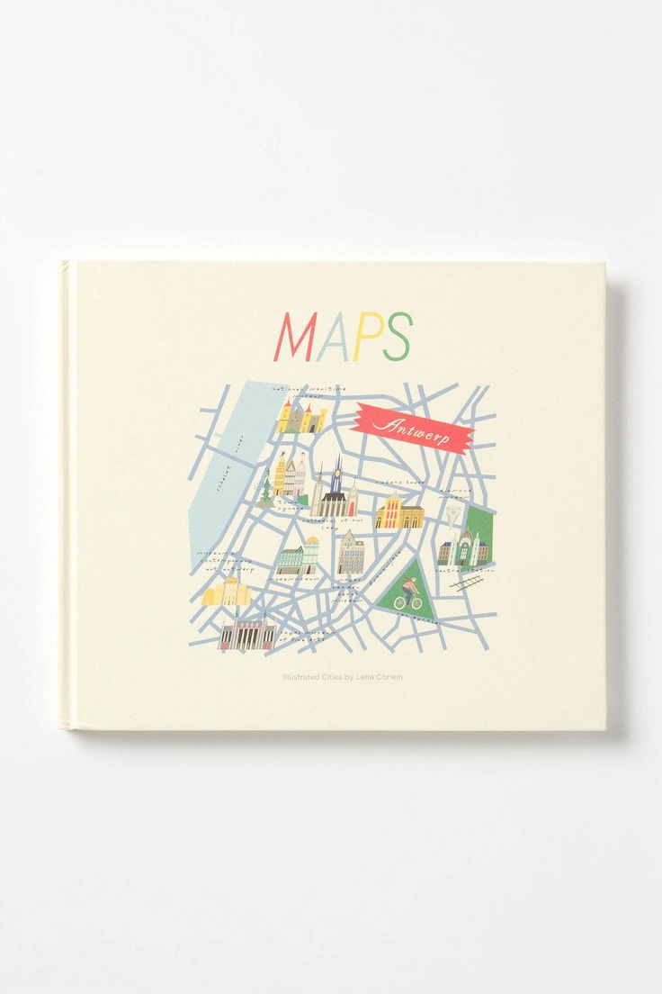 Maps - illustrated cities book found on Anthropologie