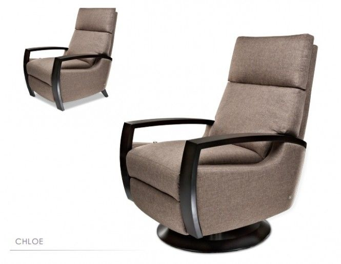 Coziness, Functionality, and Style on The Recliner Chairs : CHLOE Brown Modern Recliner Chairs Design