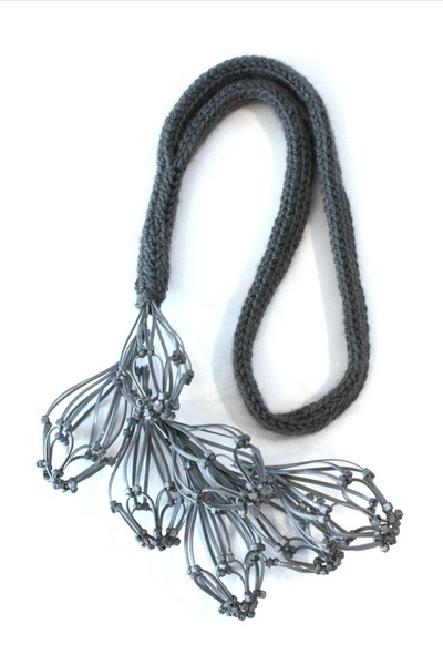 Malou Paul: necklace, wool and sterling. Gallery Zone -